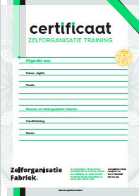 zelforganisatie en zelfsturing training certificaat